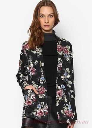 Удлиненный пиджак в цветочном принте