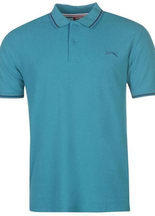Фирменные мужские качественные футболки поло слезенгер slazenger оригинал