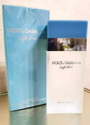 Dolce&gabbana light blue edt 100ml, парфюм, духи - свежий, звонкий