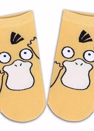 Носки с принтом покемон-утка псайдак