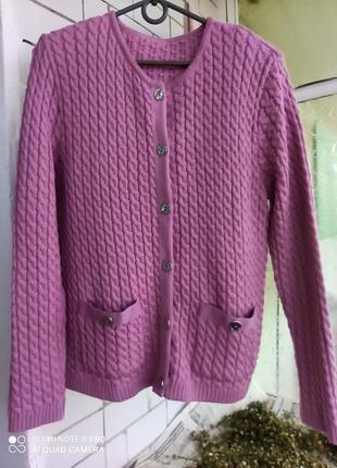 Вязаная кофта, кардиган, свитер 50% шерсть, wool