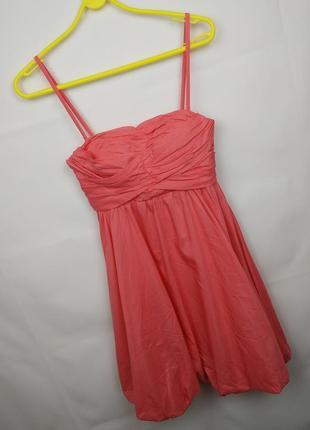 Платье новое шелковое воздушное нежно розовое asos uk 6/34/xs