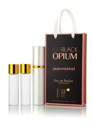 3 по 15 мл мл мини-парфюм jeanmishel love black opium (ж) 100