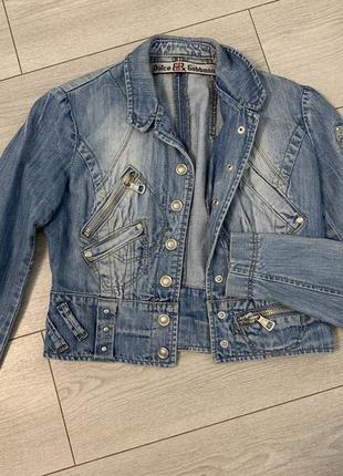 Джинсовая куртка в стиле d&g