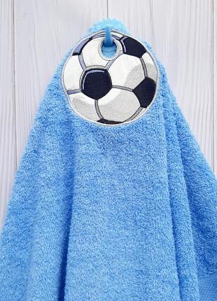 Детское полотенце с петельной футбольный мяч