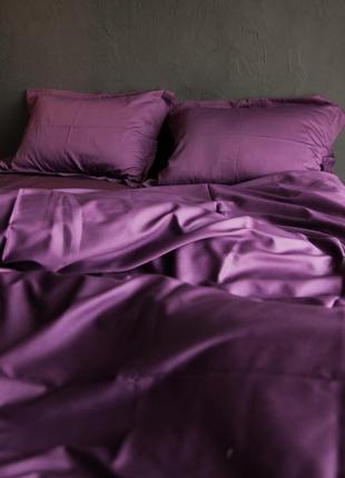 Plum, однотонное постельное белье сатин премиум (100% хлопок)