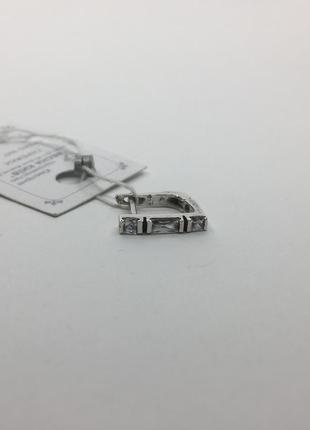 Серебряная серьга 925 с камнями