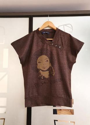 Красивенная футболка топ silvian heach р.s-m