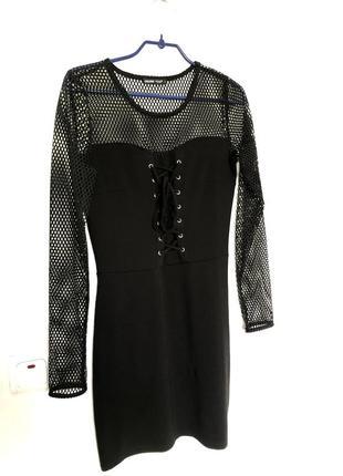 Обтянуюче плаття в сіточку cropp