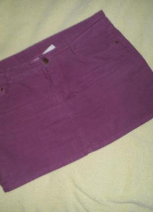 Вельветовая мини  юбка (микровельвет)