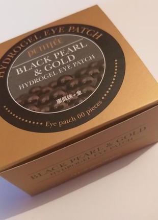 Гидрогелевые патчи для глаз с золотом и черным жемчугом, petitfee black pearl&gold