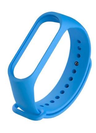 Ремешок силиконовый xiaomi mi band 3/4 голубой