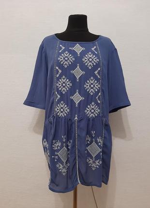 """Стильная модная блуза """" вишиванка """" большого размера"""