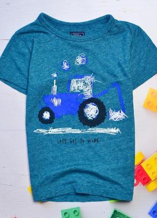 Футболка с трактором, для мальчика