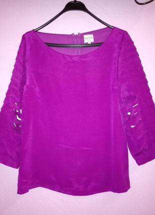 Стильная малиновая блуза