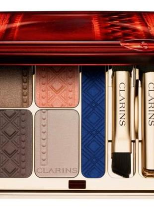 Палетка теней кларанс clarins colour of brazil eye quartet & liner palette