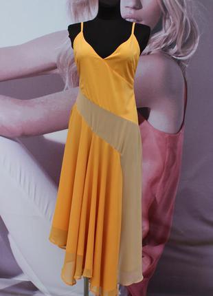 Платье миди со вставками колор блок asos