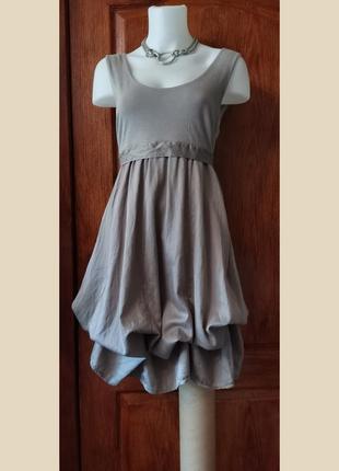 Платье миди трансформер хлопок платье балахон для беременных одежда для будущих мам