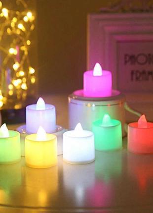 Миниатюрные led свечи (переливаются разными цветами)