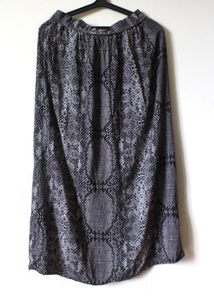 Вискозная серая юбка макси next