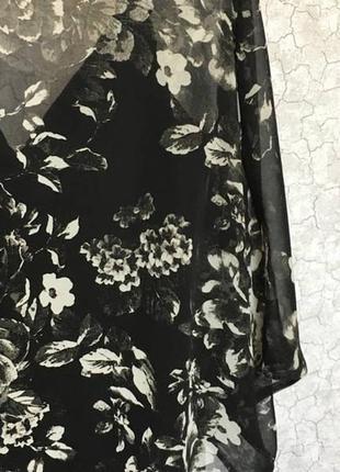 Шифоновая полупрозрачная накидка в цветы от new look крой летучая мышь