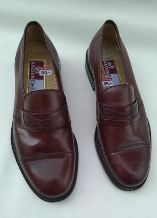 Шикарные новые кожаные туфли gallus австрия р.41,5 7,5
