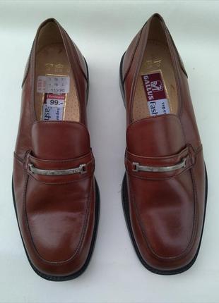 Шикарные новые кожаные туфли gallus австрия р.41 7 оригинал полнота+