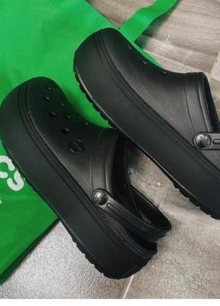 Кроксы crocs platform black