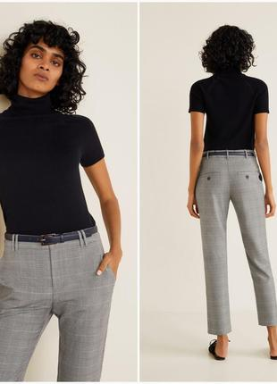 Костюмные укороченные брюки mango, размеры