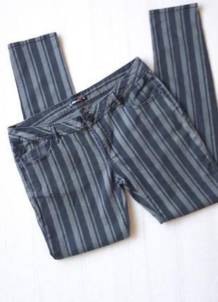 Брюки джинсы в полоску