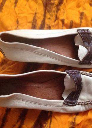 Туфли кожа светлые