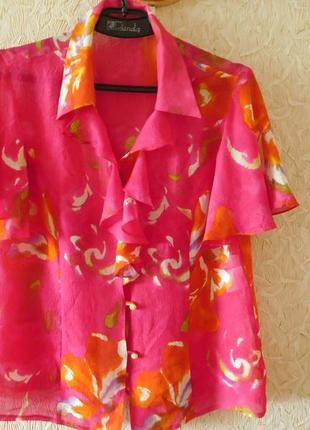 Легчайшая натуральный шелк, яркая блузка!