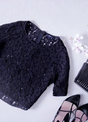 Кружевная блуза топ из очень качественного плотного кружева