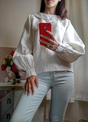 Трендовая рубашка с объемными рукавами1 фото