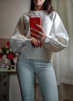 Трендовая рубашка с объемными рукавами2 фото