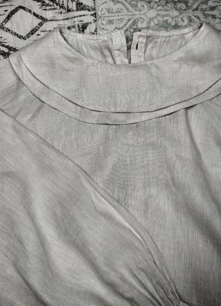 Трендовая рубашка с объемными рукавами5 фото