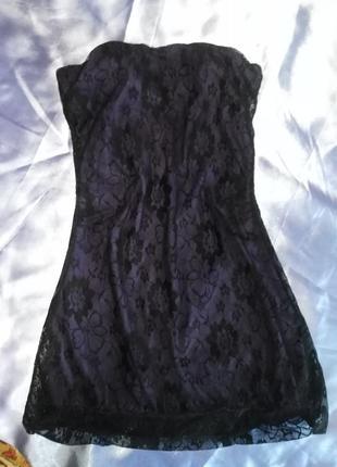 Оригинальное гипюровое платье terranova размер м.