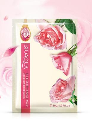 Тканевая маска для лица с экстрактом розы, bioaqua