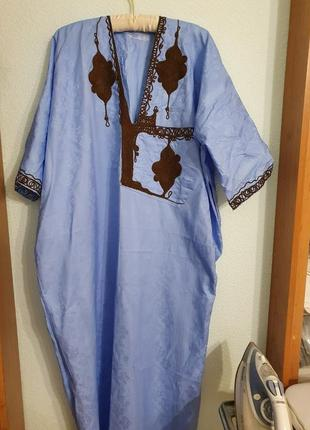 Платье сарафан летнее ручная вышивка оверсайс