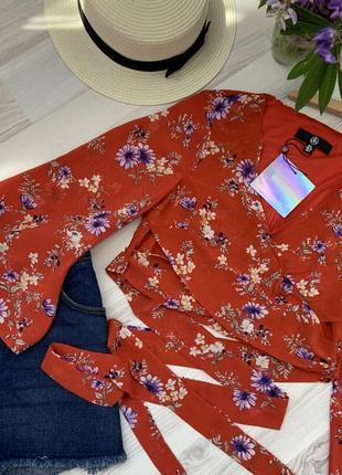 Блуза шифон цветочный принт