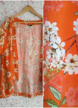 Натуральная летняя накидка кимоно