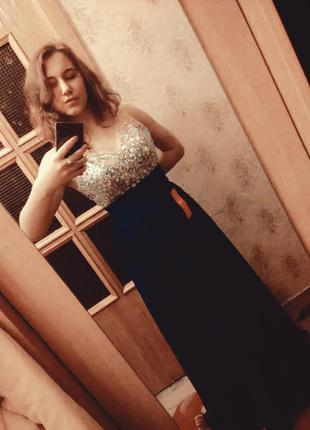 Вечернее шикарное выпускное платье