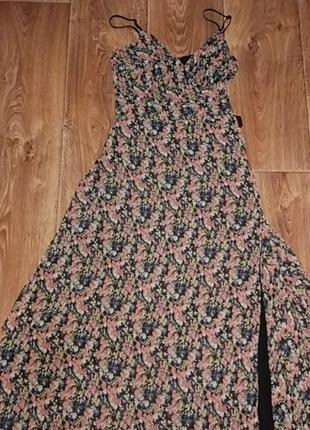 Платье летнее на запах в пол макси