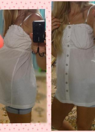 Красивая женская белая блуза блузка для беременных 46 48 м l