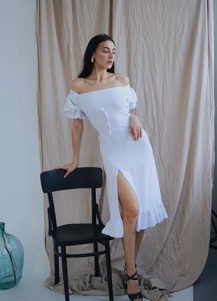 Платье белое креп-лен, 50-56р