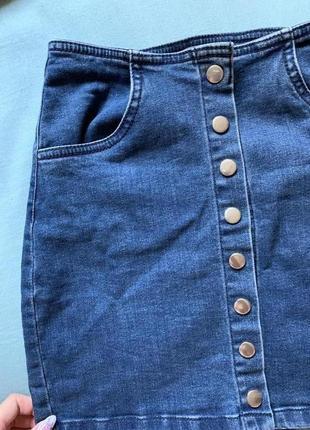 Джинсовая юбка на кнопках cropp town размер xs