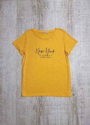 Яркая желтая футболка с надписью lcw casual