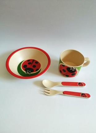 Набір посуду 4 предмети бамбук