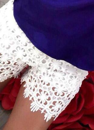 Шорты короткие,белые,кружевные,нарядные с-м