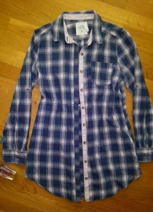 Хлопковое платье рубашка h&m размер с-м3 фото